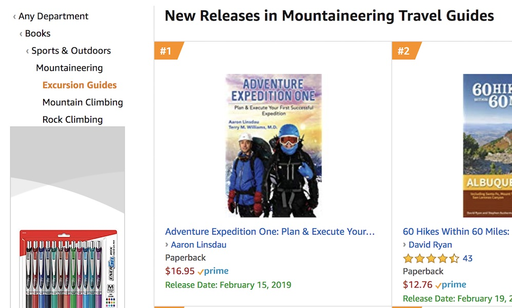 Adventure Expedition One Top of Amazon.com category