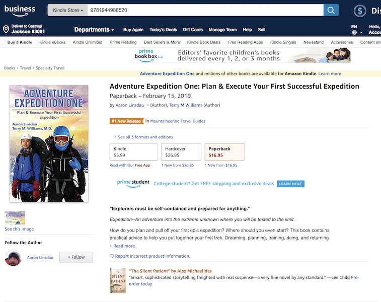 Adventure Expedition One number 1 best seller